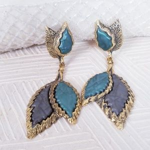 Jewelry - Vintage Fall Leaves Clip-On Earrings